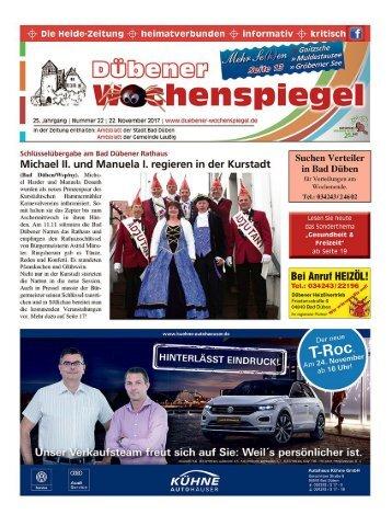Dübener Wochenspiegel - Ausgabe 22 - Jahrgang 2017