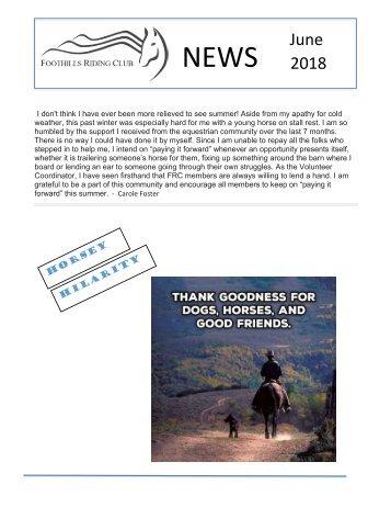 June 2018 FRC Member Newsletter