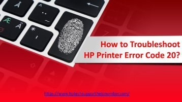 How to Troubleshoot HP Printer Error Code 20?