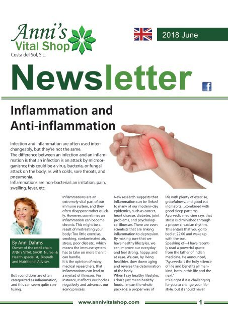 Inflammation and  Anti-inflammation