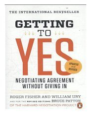 [PDF] Getting to Yes Negotiating Agreement Without Giving in Full Ebook