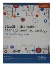 [PDF] Health Information Management Technology An Applied Approach Full Books