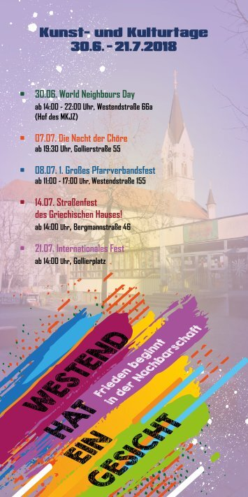 Programmheft Kulturtage 2018