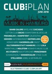 Clubplan Hamburg - Juni 2018