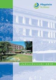 Jahresbericht 2010:Jahresbericht Pflegeheim_2 - Pflegeheim St.Otmar
