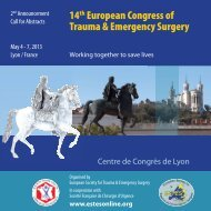 14th European Congress of Trauma & Emergency ... - ectes 2013