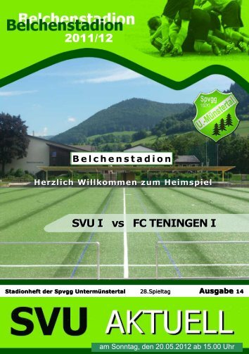 SVU I vs FC TENINGEN I - Spvgg Untermünstertal