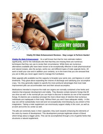 Vitality Rx Male Enhancement Increase Your Sex Power & Stamina