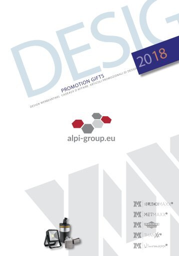 Werbeartikel Alpi Group 2018
