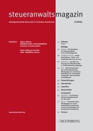 steueranwaltsmagazin 2 /2005 - Wagner-Joos Rechtsanwälte