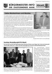 Bürgermeisterinfo Mai 2010 (2,70 MB) - Stadtgemeinde Mank