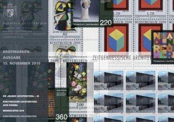 briefmarken- ausgabe 15. november 2010 - Philatelie Liechtenstein