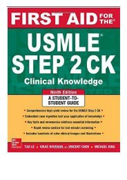 eBook First Aid for the USMLE Step 2 CK Ninth Edition First Aid USMLE Free eBook