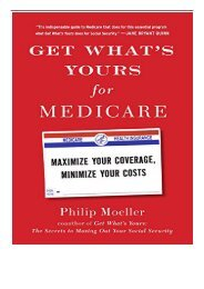 eBook Get What's Yours for Medicare Maximize Your Coverage Minimize Your Costs Free books