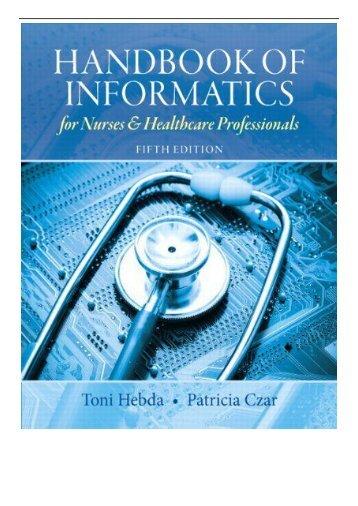 eBook Handbook of Informatics for Nurses  Healthcare Professionals United States Edition Free books