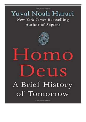 eBook Homo Deus A Brief History of Tomorrow Free books