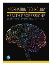 eBook Information Technology for the Health Professions Free eBook