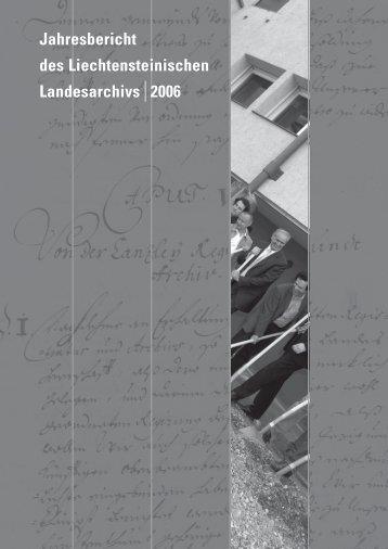 Jahresbericht 2006 - Landesverwaltung Liechtenstein