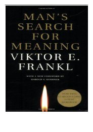 eBook Man's Search for Meaning Free books