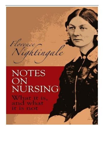 eBook Notes on Nursing What It Is and What It Is Not Dover Books on Biology Free online