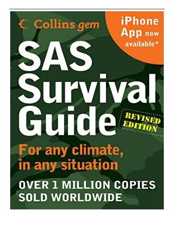 eBook SAS Survival Guide 2e Collins Gem  For Any Climate for Any Situation Free online