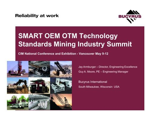 SMART OEM OTM Technology Standards Mining Industry Summit