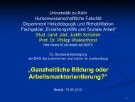 Kick-Off-Gruppen - Bundesarbeitsgemeinschaft der Lehrerinnen und ...