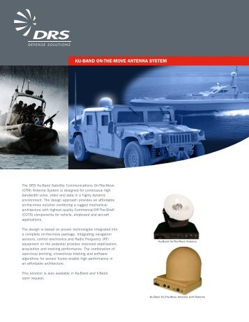 Ku-Band Satellite Communications OTM Antenna System - DRS ...