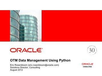 OTM Data Management Using Python
