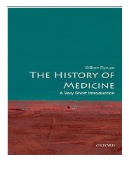 eBook The History of Medicine A Very Short Introduction Very Short Introductions Free eBook