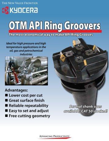 OTM API Ring Groovers - Kyocera
