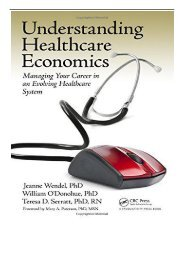 eBook Understanding Healthcare Economics Managing Your Career in an Evolving Healthcare System Free