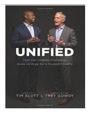 eBook Unified How Our Unlikely Friendship Gives Us Hope for a Divided Country Free books