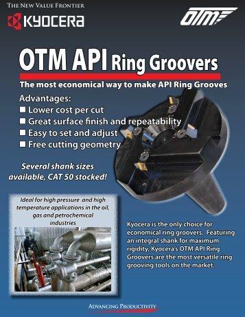 OTM API Ring Groovers - Innovative Tool Sales
