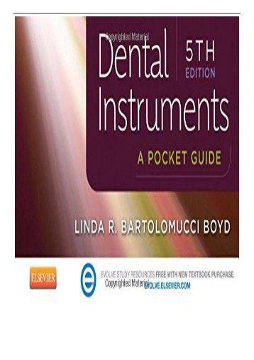 PDF Download Dental Instruments A Pocket Guide 5e Free online
