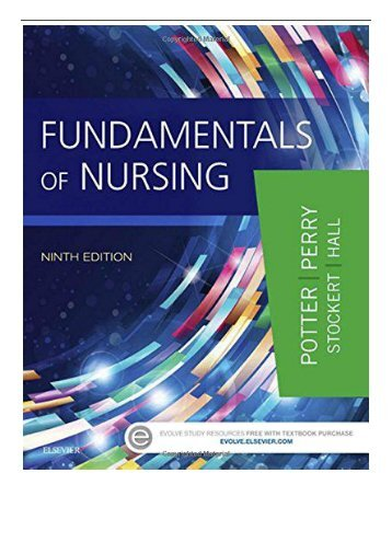 PDF Download Fundamentals of Nursing 9e Free online