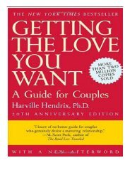 PDF Download Getting the Love You Want A Guide for Couples 20th Anniversary Edition Free eBook