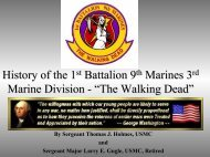 History Of The 1st Battalion 9th Marines - Walking Dead 1/9/3