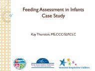 Feeding Assessment in Infants Case Study - Early Intervention ...