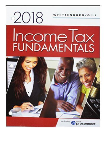 [PDF] Income Tax Fundamentals 2018 + Intuit Proconnect Tax Prep Software + Cengagenowv2 1 Term Printed