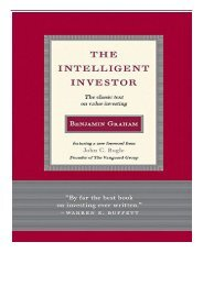 [PDF] Intelligent Investor The Classic Text on Value Investing Rough Cut  Full pages