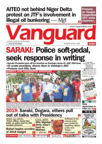 05062018 - SARAKI: Police soft-pedal, seek response in writing