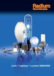 Radium catalogue 2008-2009 - ALI for all your lamps