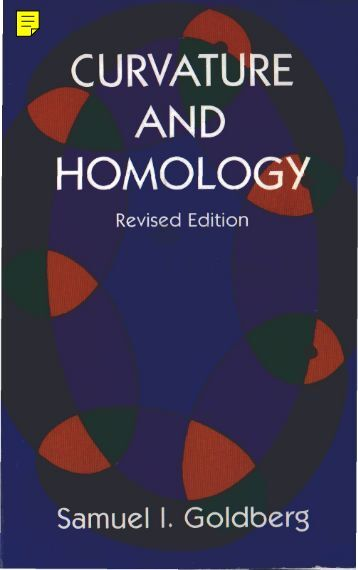 Curvature and Homology: Enlarged Edition - I don