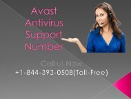 Avast Antivirus Support Number PPT (1)
