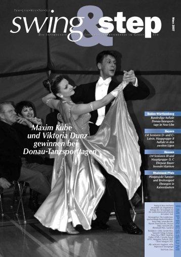 Maxim Kube und Viktoria Dunz gewinnen bei Donau-Tanzsporttagen