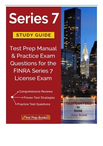 PDF Download Series 7 Study Guide Test Prep Manual  Practice Exam Questions for the FINRA Series 7 License