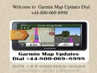 How do I Update my Garmin Maps for free? Dial Toll-free Number +44 800 069 8998 UK.