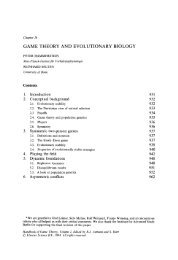 Game theory and evolutionary biology - Some Basic Concepts of the ...