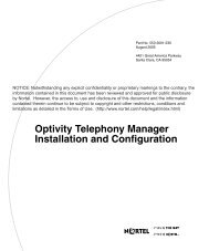 Optivity Telephony Manager Installation and ... - BT Business